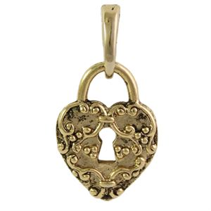 Picture of Gold Heart Lock Droplet